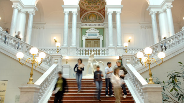 Entrance hall, University of Leipzig.